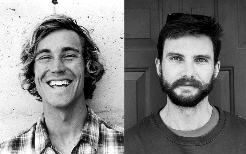 Black and white portraits of two men in their twenties.