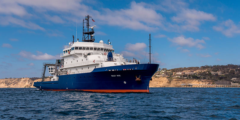 Research vessel Sally Ride offshore of La Jolla, California.