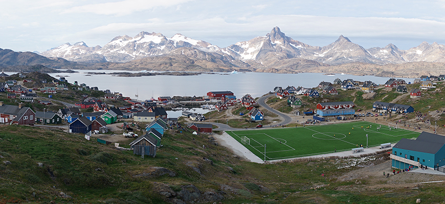 Tasiilaq, Greenland, during a record hot July 2019.  Photo: James Holte