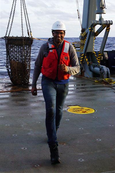 Susheel Adusumilli at sea