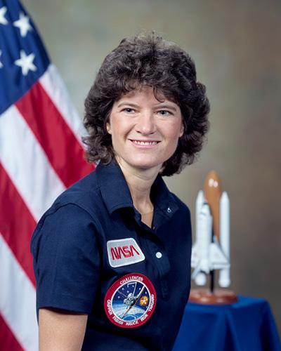 NASA portrait of Sally Ride in 1984