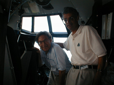 Paul Crutzen (left) with Veerabhadran Ramanathan during the INDOEX campaign
