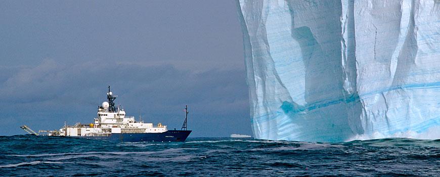 R/V Roger Revelle and iceberg