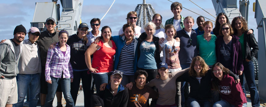 Students on the June 2012 CoastEx expedition