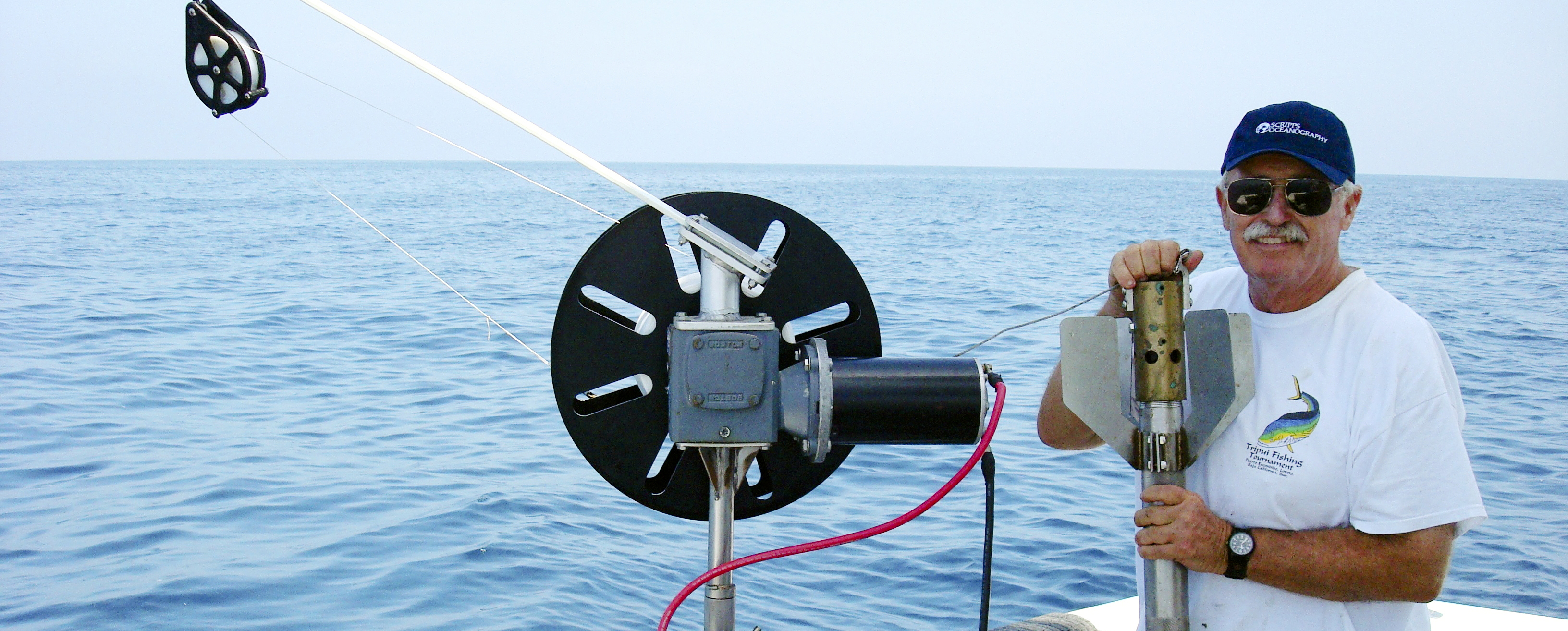 Dr. Bill Fenical collecting samples at sea that could result in the development of new medicines.