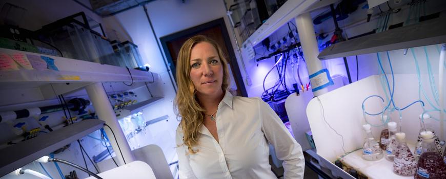 Jennifer Smith in her lab