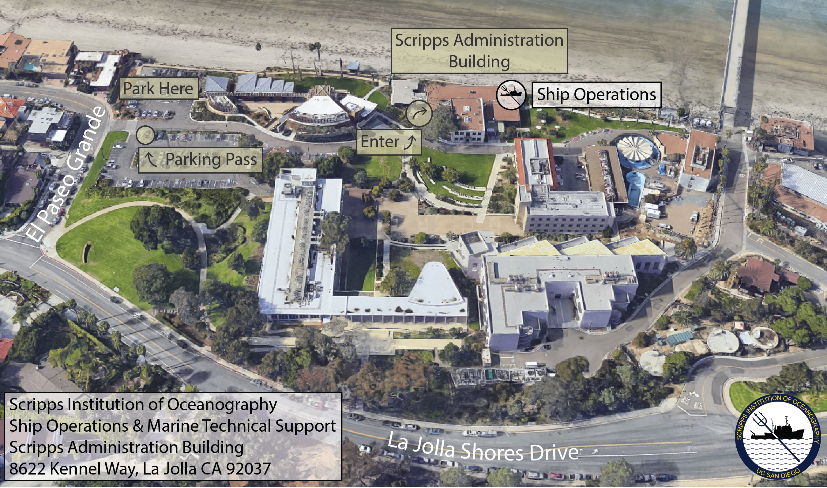 Maps And Directions Scripps Institution Of Oceanography Uc San Diego