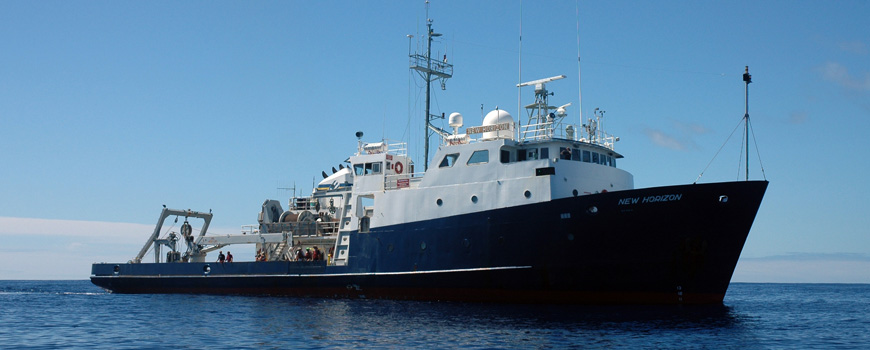 R/V New Horizon at sea on the SEAPLEX expedition