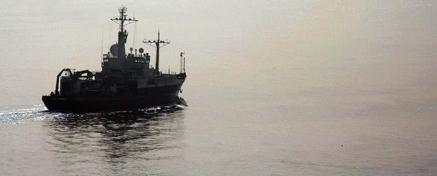 R/V Melville leaving San Diego
