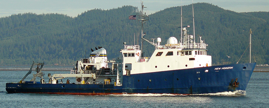 R/V New Horizon served the US scientific community from 1978 through 2014.  Photo: Michael Duncan, Columbia River, 2009