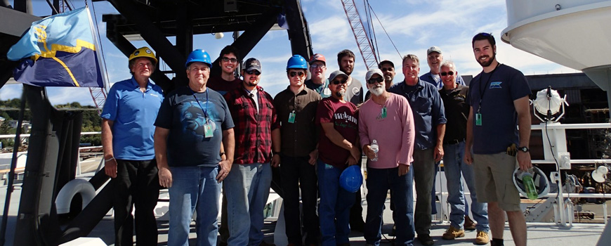 01 July 2016: SIO mariners and technicians aboard R/V Sally Ride