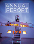 Cover of 2016 annual report featuring RV Sally Ride