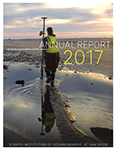 Cover of 2017 annual report featuring Sarah Giddings