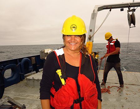 Aboard a research vessel in 2013, Matzke studied ocean life in underwater canyons.