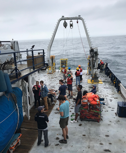 MPL interns aboard R/V Sproul