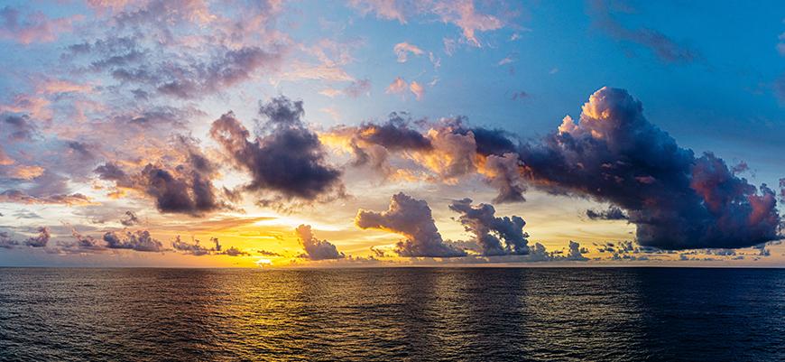 Sunset in Bay of Bengal during MISO-BoB. Photo: San Nguyen
