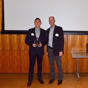 Ocean Motion Technologies CEO and PhD Candidate Jack Pan with Bill Scripps