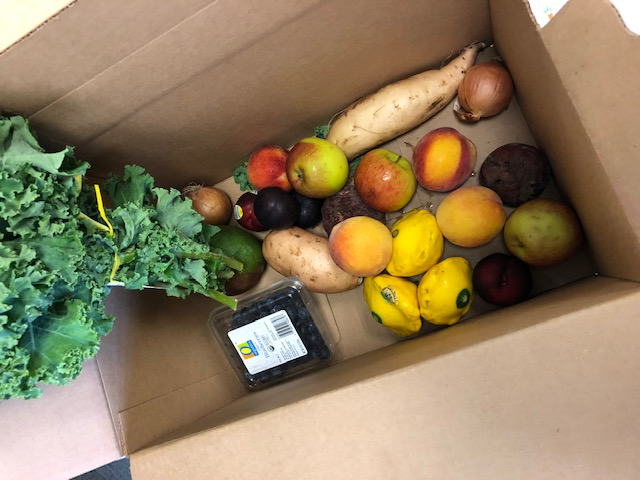 A produce box from Imperfect Produce. Photo: Sarah Morgan Sickler, BAS