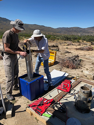 Project IDA seismometer installation in Anza, Calif.