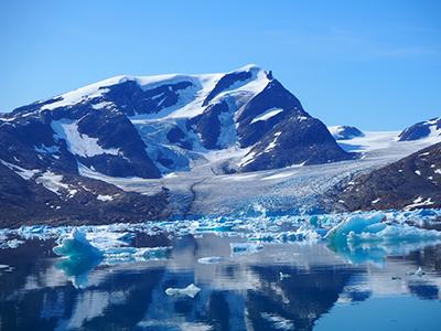 A marine-terminating glacier in Greenland's Johan Petersen Fjord. Photo: Bobby Sanchez