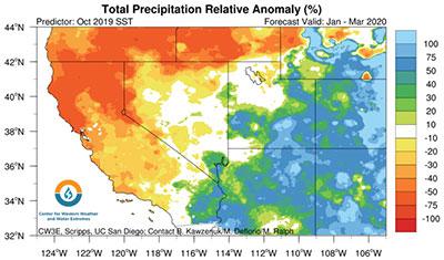 A November CW3E forecast correctly identified this winter's precipitation distribution