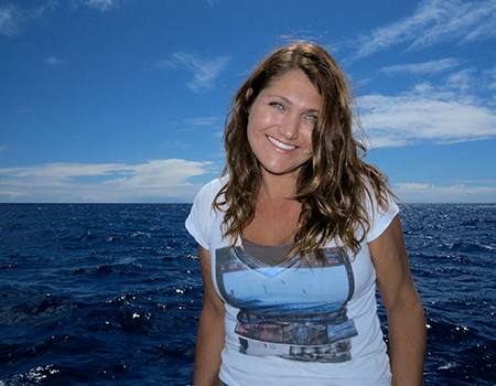 """Cynthia Matke teaches a number of popular Sally Ride Science workshops, including """"Arctic Mammals"""" and """"Kelp Forest Ecosystems."""""""