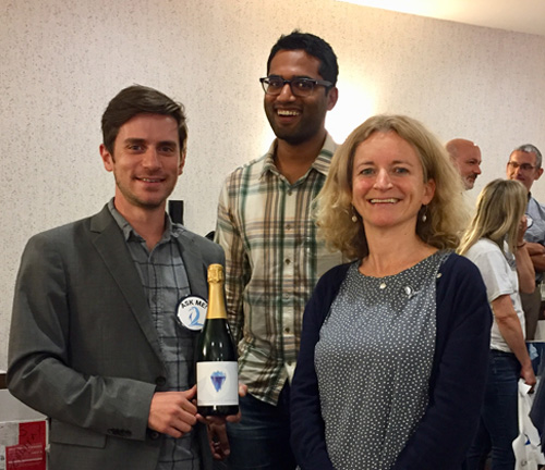 Matt Siegfried, Susheel Adusumilli, and Helen Fricker attend a pre-launch reception.
