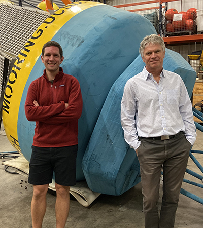 Scripps Oceanography study co-authors Jannes Koelling (left) and Uwe Send