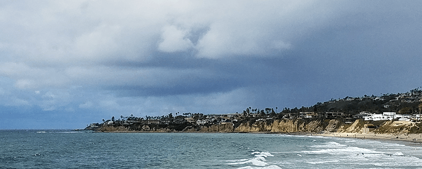 Low clouds over San Diego in mid-2017
