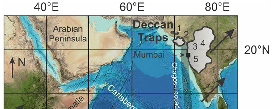 Satellite bathymetry map of the western Indian Ocean basin.