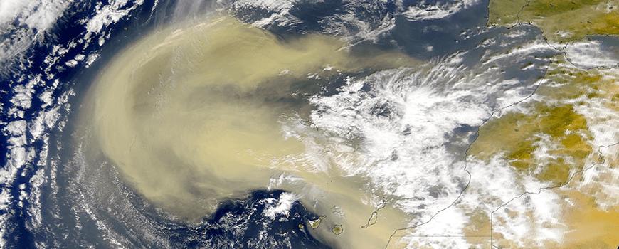 NOAA image of African sandstorm