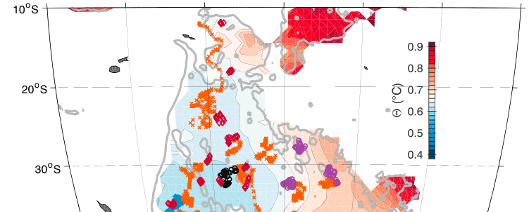 Locations of Deep Argo float prof les in the Southwest Pacific Basin as of 20 November 2018