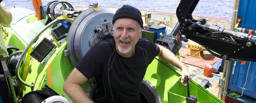 James Cameron during the DEEPSEA CHALLENGE.