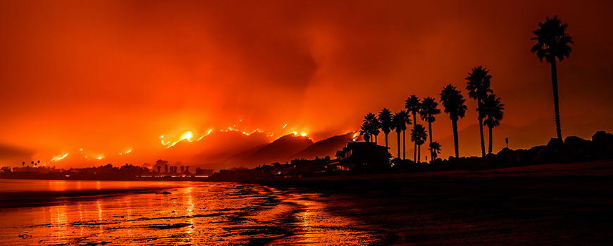 The 2017 Thomas Fire. Photo: istockphoto/Carsten Schertzer