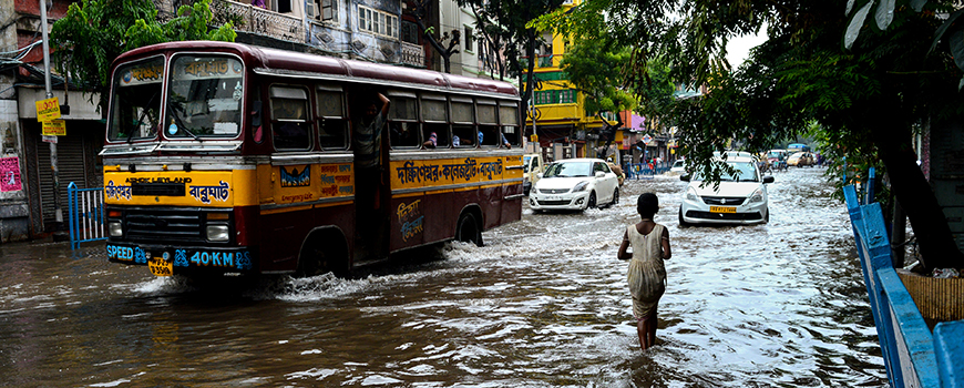 Downtown Kolkata during July 2018 monsoon. Photo: Debarchan Chatterjee /iStockphoto