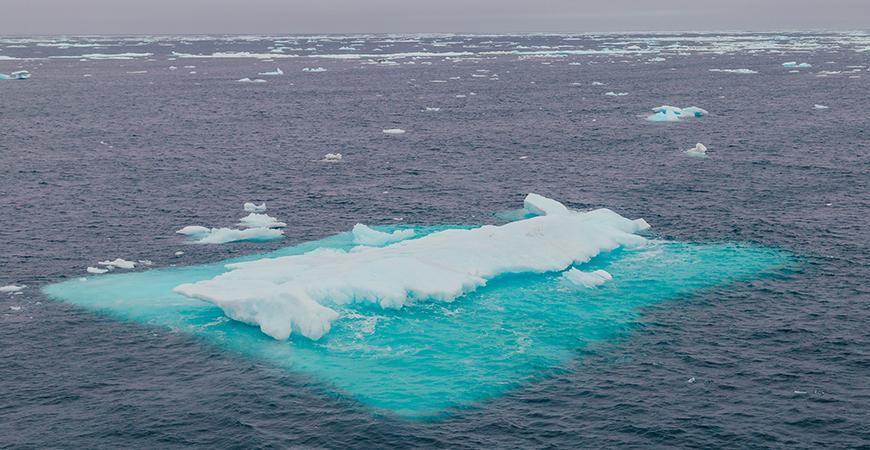 Arctic Ocean sea ice seen during 2018 SODA cruise. Photo: San Nguyen