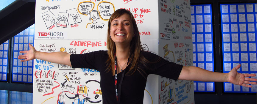 Scripps student argues for putting the humanity back in science at TEDxUCSD