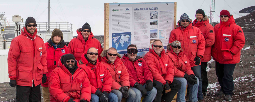 AWARE team members at the ARM Mobile Facility, Antarctica