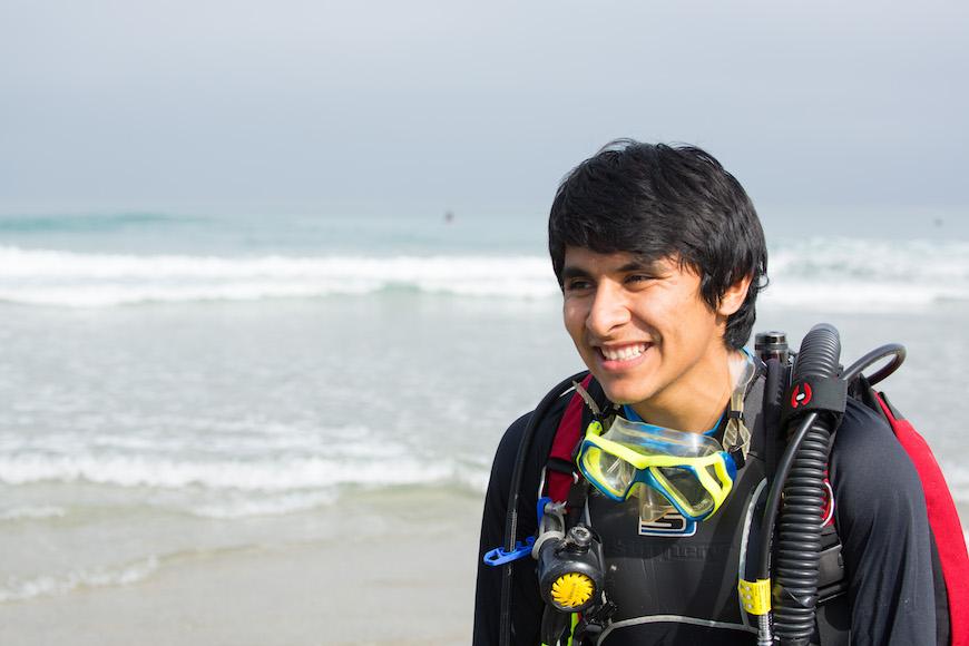 Scripps graduate student Alfredo Giron. Photo: Josh Stewart