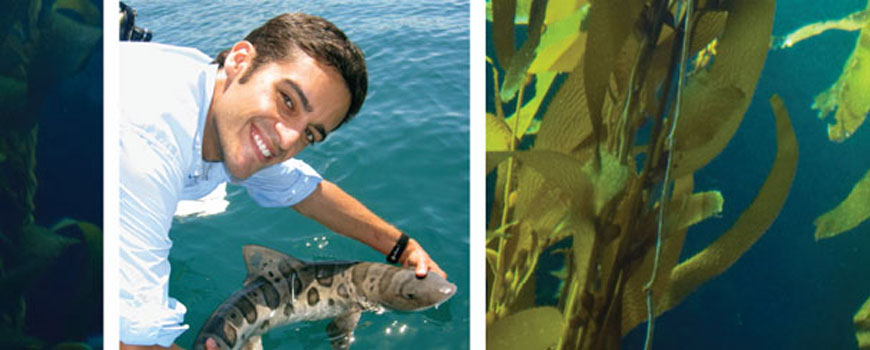 Andy Nosal with leopard shark.