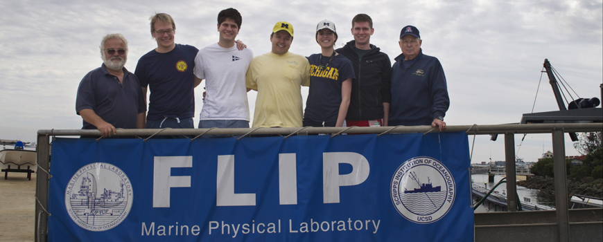 Students and Scripps screw stand next to R/P FLIP.