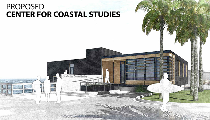 Rendering for the proposed reconstruction and modernization of the Charles and Beano Scripps Center for Coastal Studies
