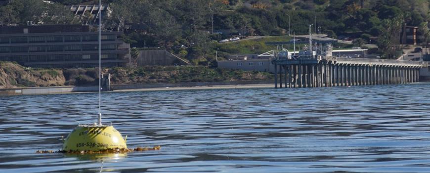 Coastal Data Information Program (CDIP) buoy deployed off Scripps Pier