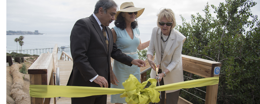 Scripps Coastal Meander Trail ribbon cutting