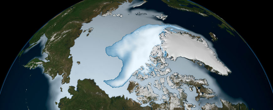Sea ice coverage in 2012