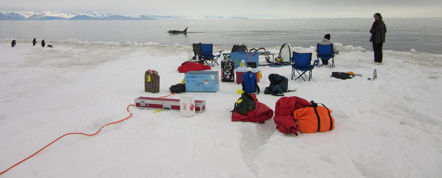 The science team's field site at Ross Island.