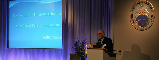 Renowned Oceanographer Walter Munk Receives Crafoord Prize