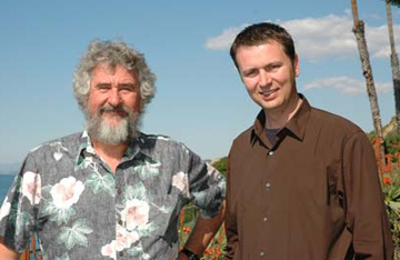 Hubert Staudigel (left) and Anthony Koppers of Scripps