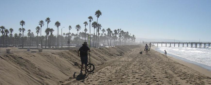 Coastal research at Seal Beach. Photo: Joe Delgado