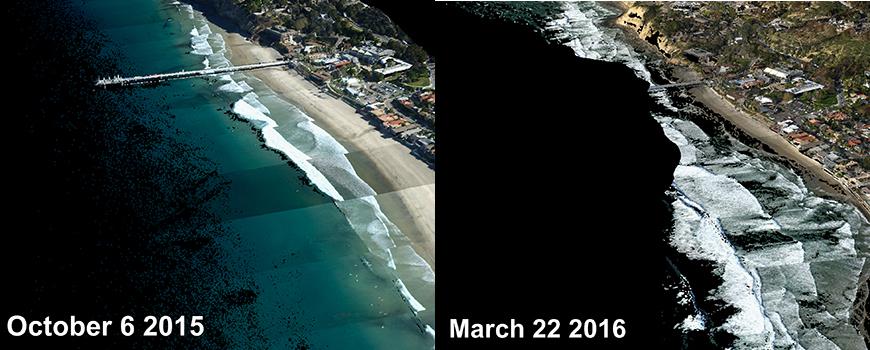 Beach erosion at La Jolla Shores
